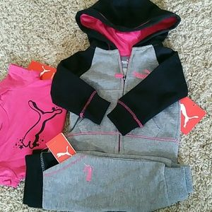 NWT. Puma matching set for baby girl